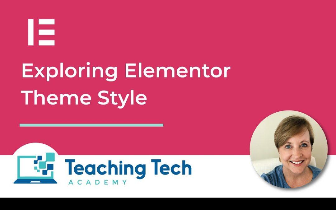 Elementor Theme Style #elementor #wordpress #elementorthemestyle