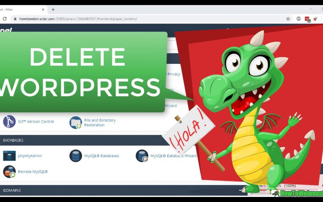 How to Uninstall Wordpress Manually Delete Wordpress Site Files and Database in Cpanel