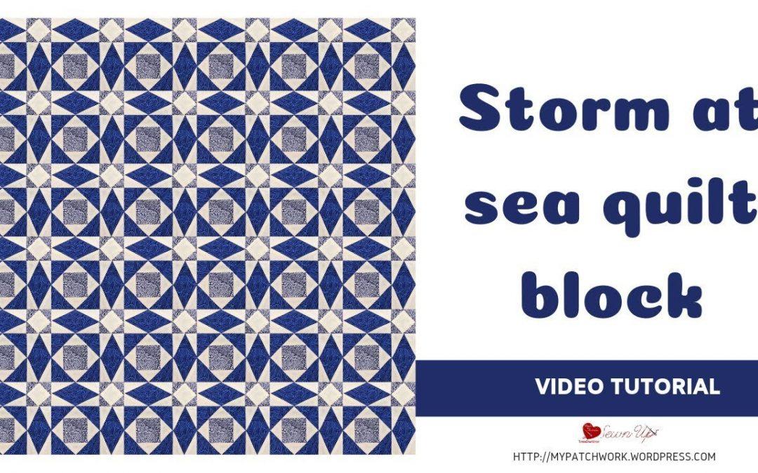Storm at sea video tutorial - mixed techniques