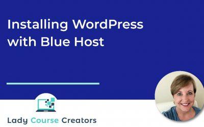 WordPress For Beginners – WordPress Installation with Blue Host
