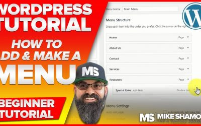 WordPress For Beginners – WordPress Menu Tutorial – How to Make and Add Menus