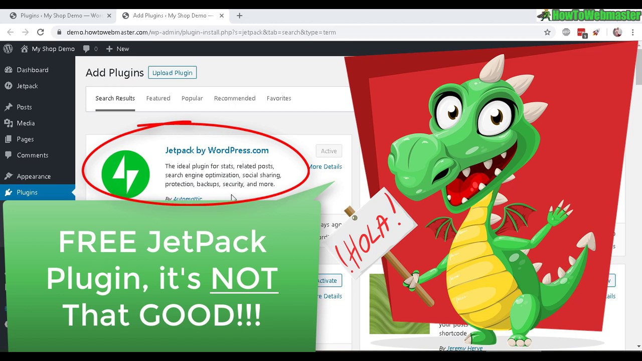 Wordpress JetPack Plugin Review & Tutorial Demo - Not Worth it!