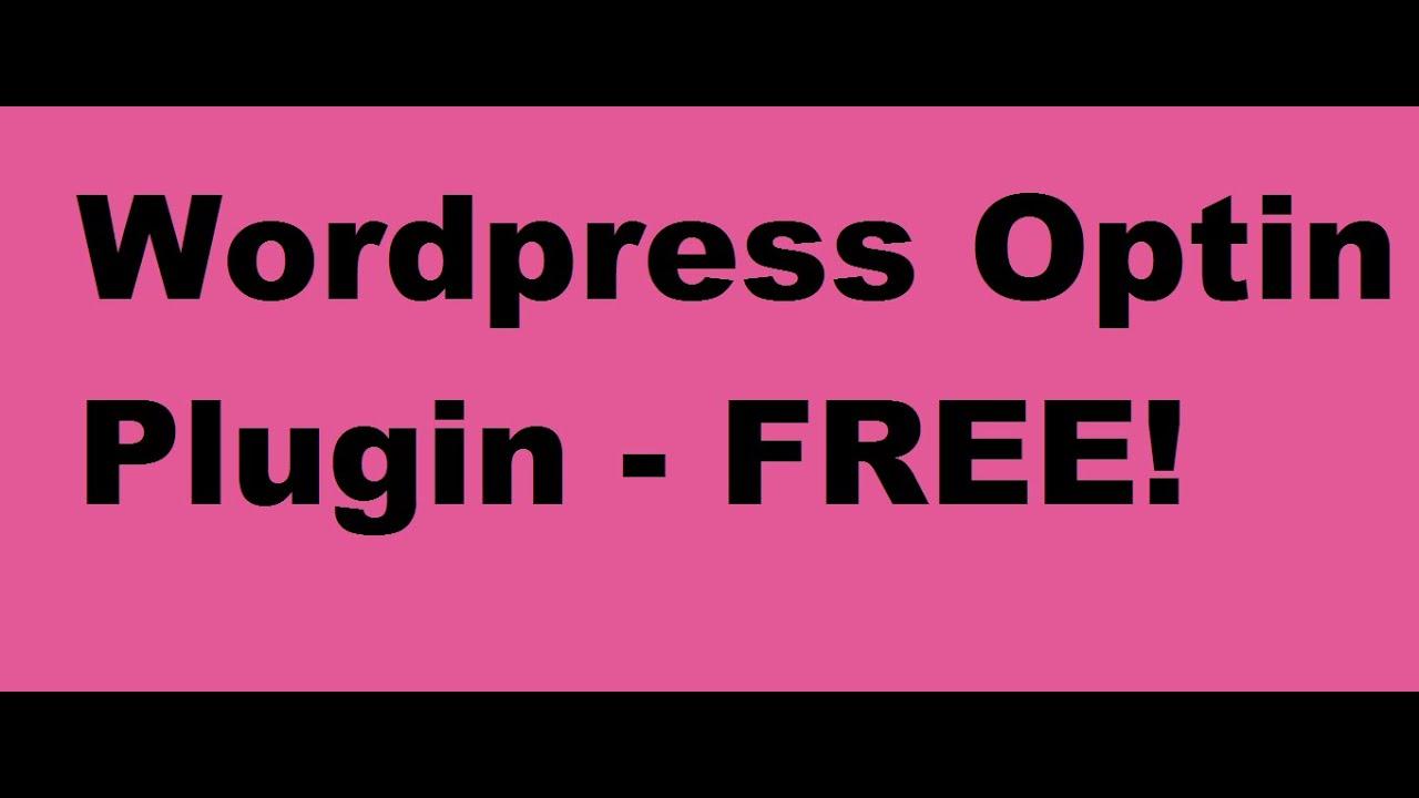 Wordpress Optin Plugin - Optin Form