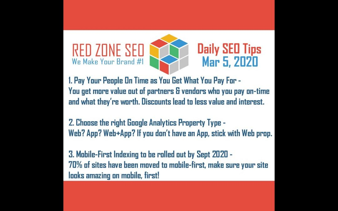 Daily SEO Tips - March 5, 2020