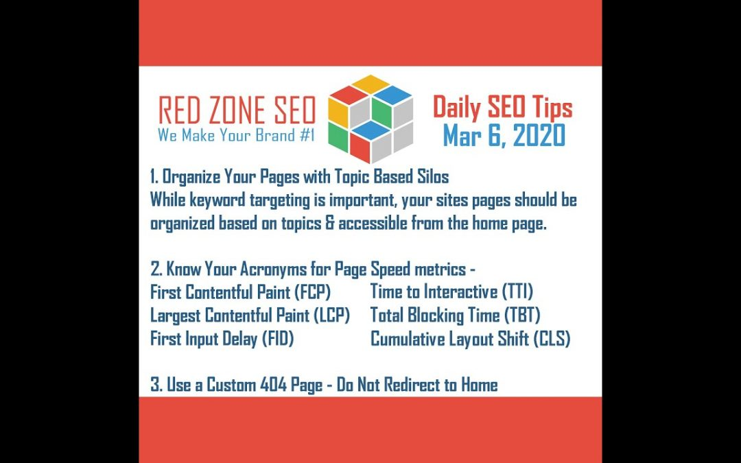 Daily SEO Tips March 6, 2020