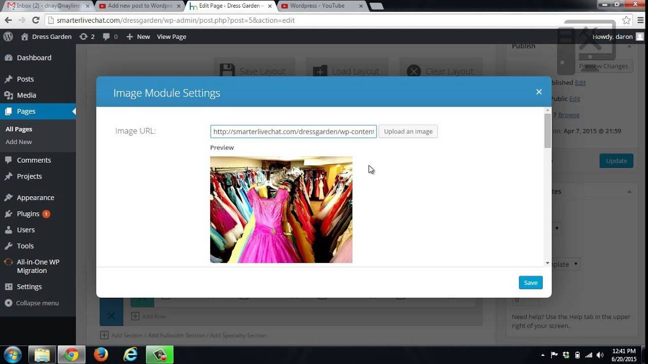 Edit Wordpress text and images - Elegant Themes Page Builder - image seo tip