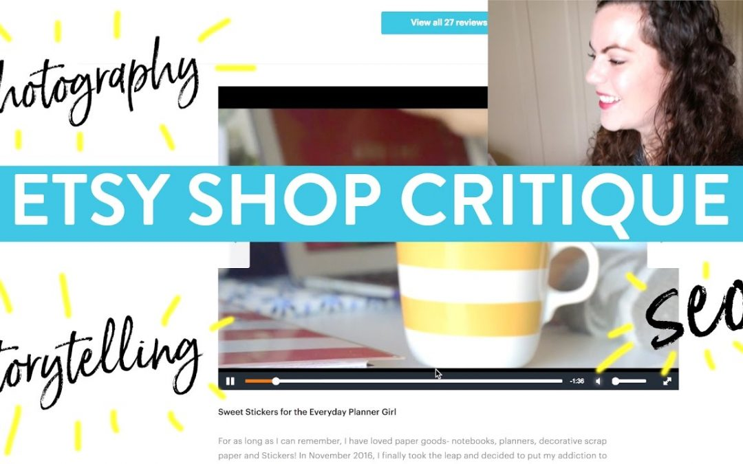 Etsy Shop Critique #5  | Search Engine Optimization and Photography