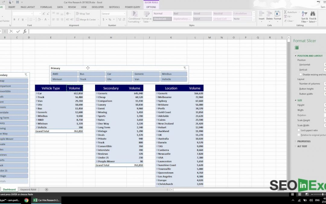 Excel SEO: Building a Keyword Research Dashboard in Excel