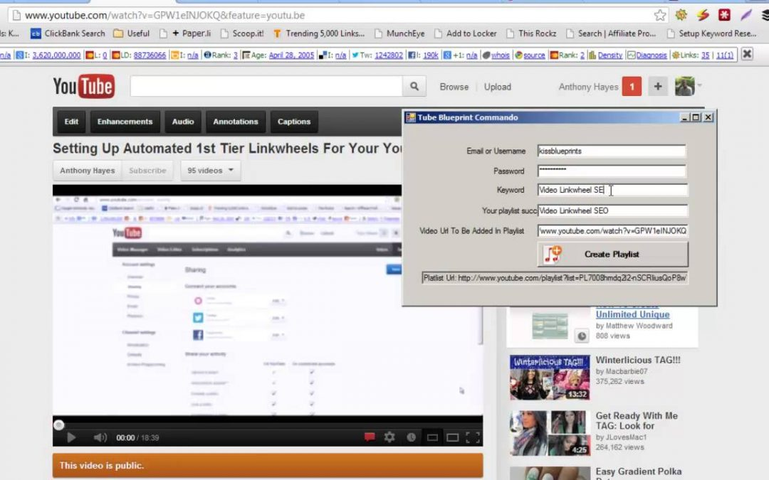 Free YouTube SEO Software! How To Rank YouTube Videos Fast With Channel Playlists