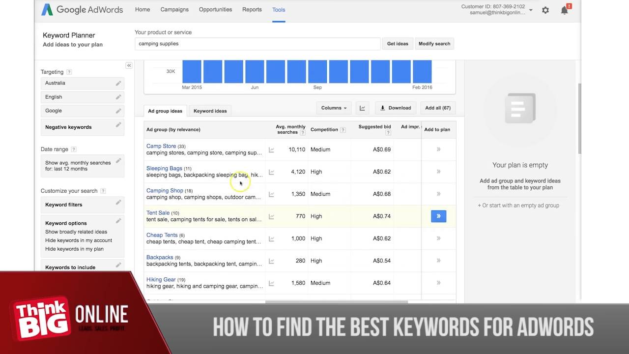How To Find The Best Keywords For Adwords And SEO
