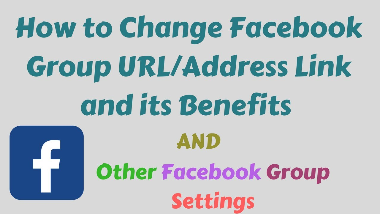 How to Change Facebook Group URL/Address Link (Facebook SEO Tips) and Other Facebook Group Settings