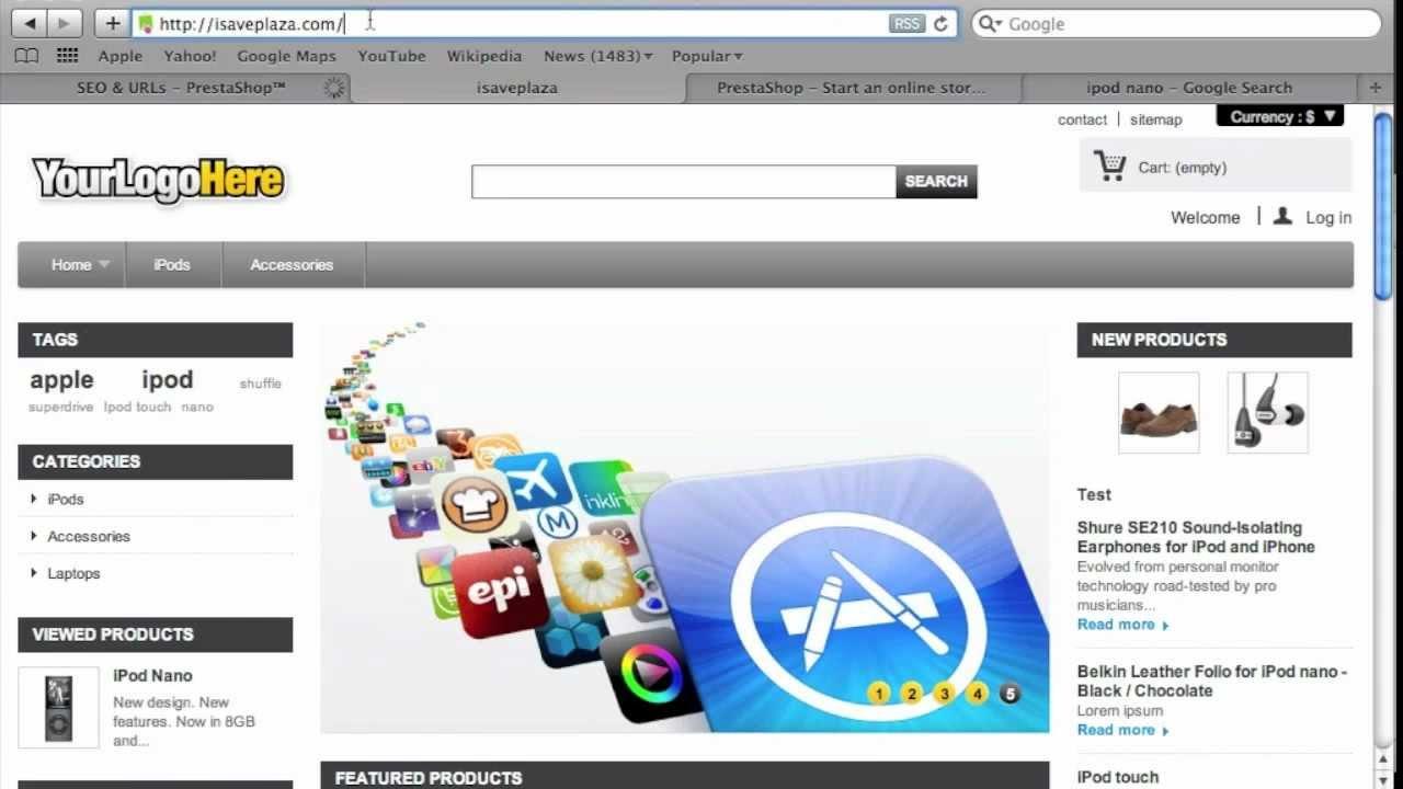 Make PrestaShop Search Engine Friendly with SEO URLs