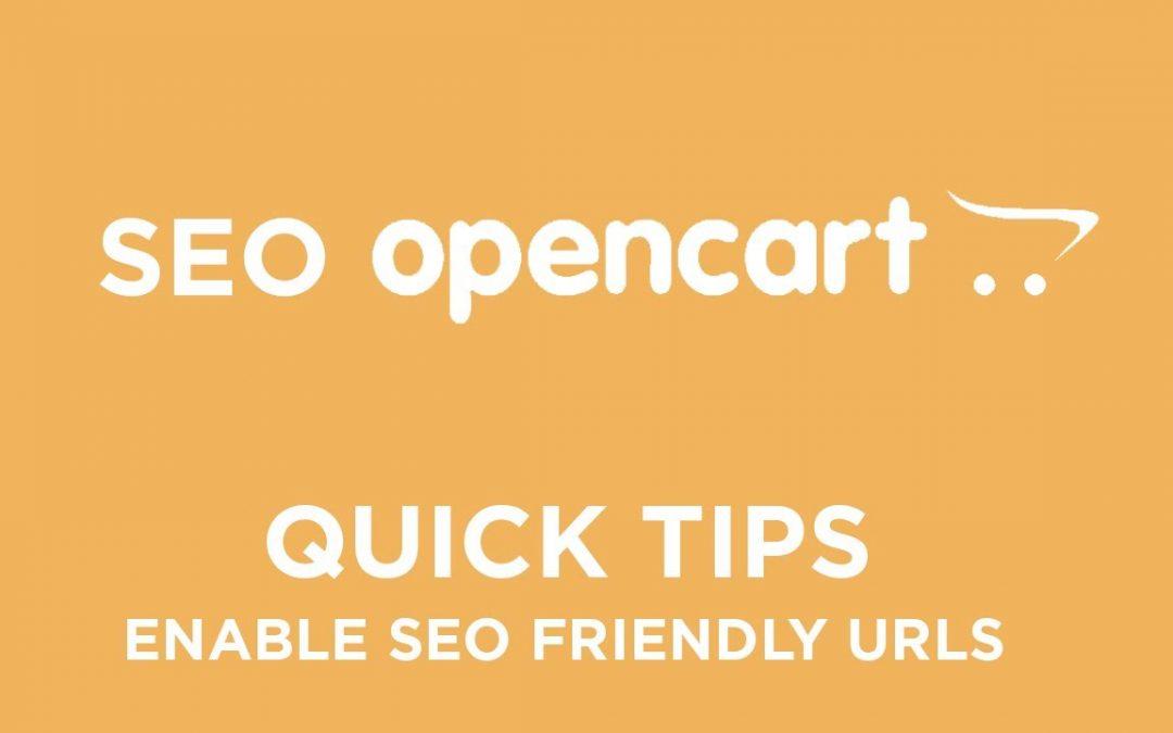 OpenCart SEO - Quick Tips