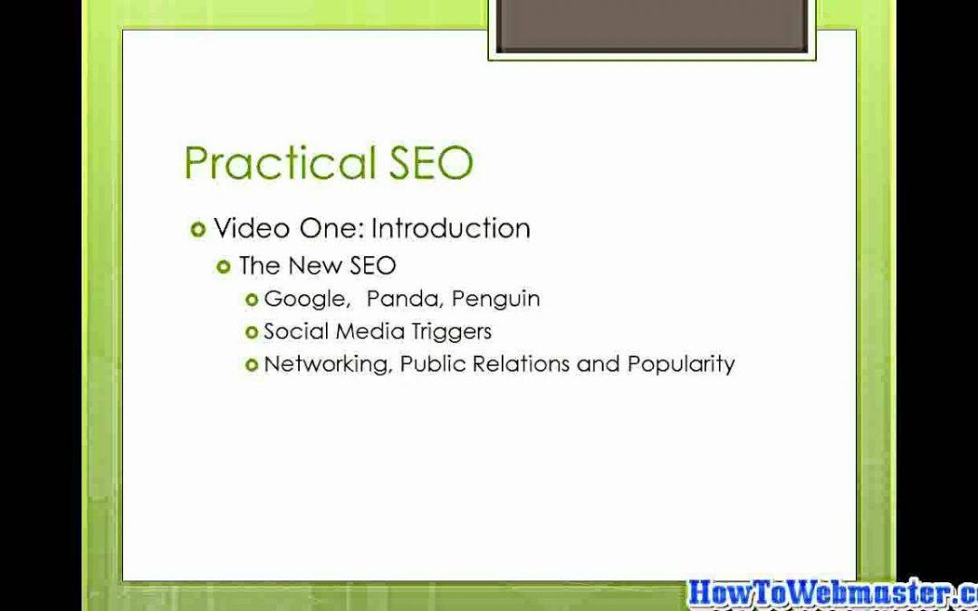 Part 1 SEO Intro - Tutorial on Search Engine Optimization