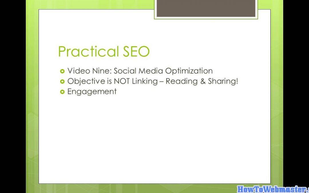 Part 9 SEO & Social Media - Tutorial on Search Engine Optimization