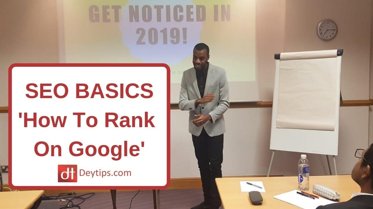 SEO Basics   SEO For Beginners   SEO Basics To Rank On Google