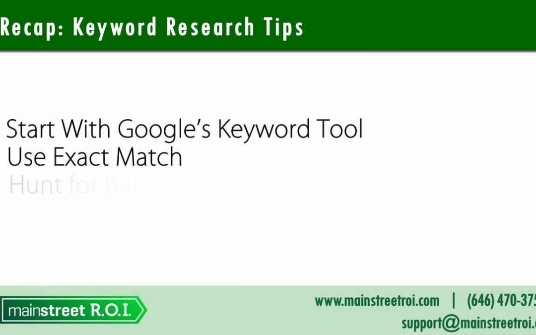 SEO Keyword Research Tips