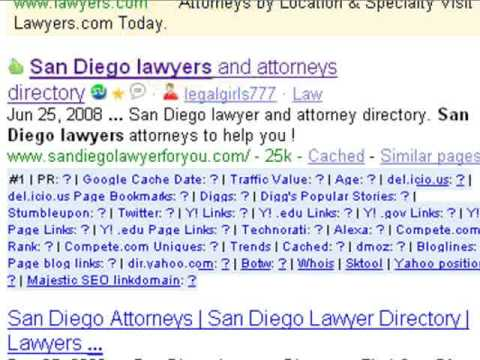 San Diego lawyers - search engine optimization tips - San Diego attorneys -SEO - keywords - websites