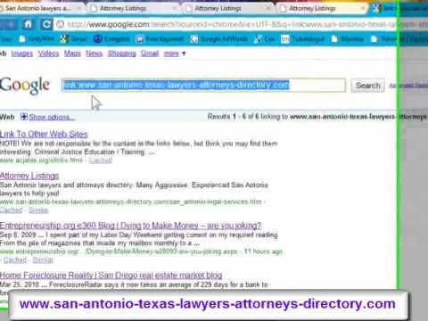 Search Engine Optimization - SEO Tips - San Antonio lawyers