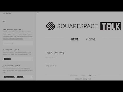 Squarespace SEO Tips | Squarespace 7 | Squarespace Tutorial Video