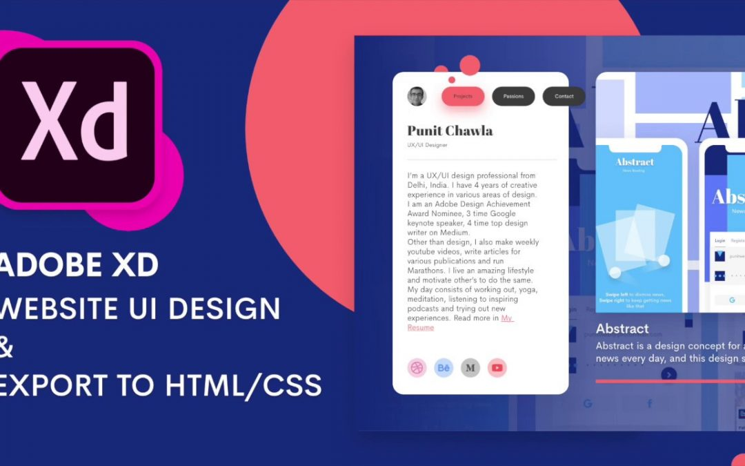 Website UI Design in Adobe XD + Exporting as HTML/CSS | Design Weekly