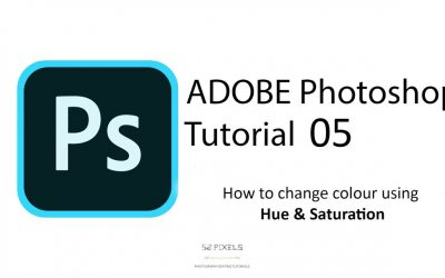 Adobe Photoshop – Tutorial 5 ( Adjustments – Hue & Saturation, how to change colour ) 🔥🔥🔥