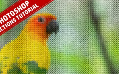 Knitting Effect Photoshop Action Tutorial