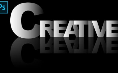How to create Beautiful shadow and Reflection text effect in Adobe Photoshop cc by Zain Tech