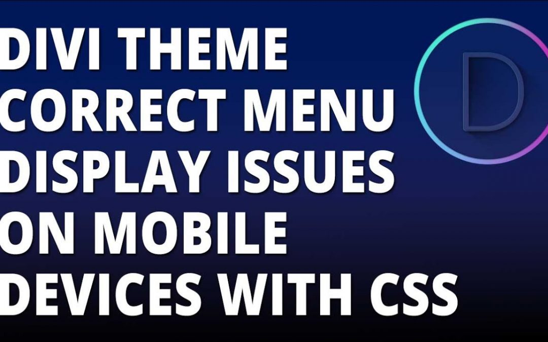 Divi – Correct menu display issues on mobile devices with CSS
