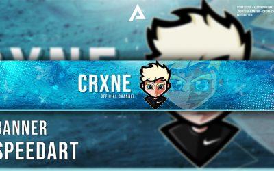 Crxne Channel – Banner / Speed Art (Adobe Photoshop 2019)