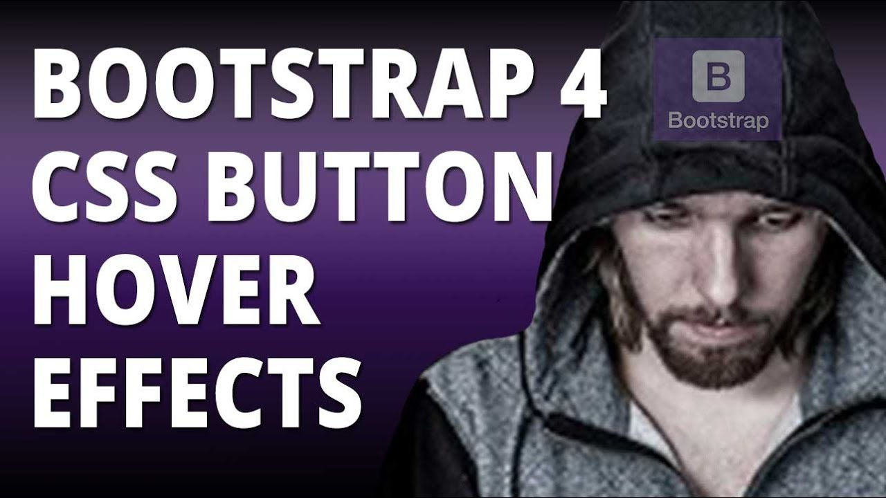 Bootstrap 4 CSS Button Hover Effects