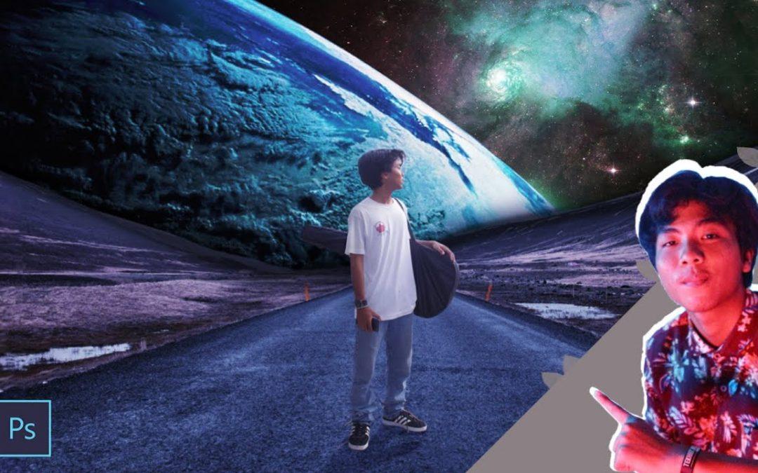 Tutorial cara mengedit background tema luar angkasa ...