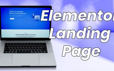 Creative Landing Page Using Elementor Page Builder | Design One Page Template with Master Addons
