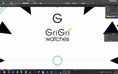 Do It Yourself – Tutorials – GRIGRI watches – Illustrator tutorial on how to create your own watch dial using the Rotate Tool