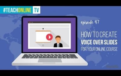 Do It Yourself – Tutorials – How To Create Voice Over Slides For Your Online Course