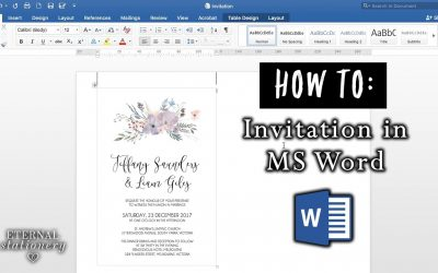 Do It Yourself – Tutorials – How to make an invitation in Microsoft Word | DIY Wedding Invitations | MS Word office