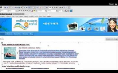 Do It Yourself – Tutorials – Tutorial to Create Professional Travel Website using Easy Build Your Own Website