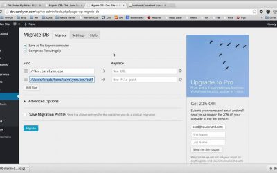 Exporting Your WordPress Database with WP Migrate DB (free version)