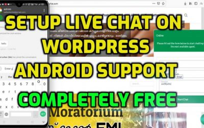Install live chat on your wordpress site with android app – completely FREE