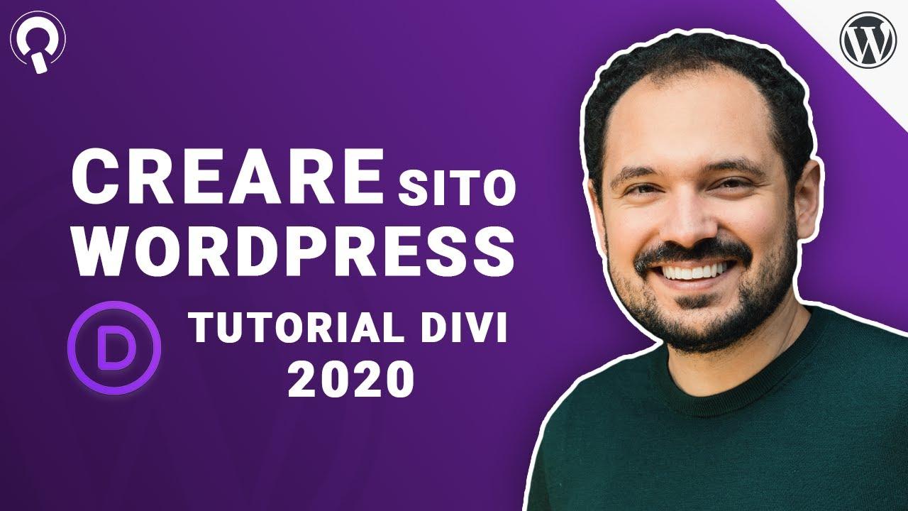 Comment créer un site Web avec WordPress et Divi 4 Tutoriel italien 2020