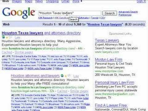 Houston Texas lawyers - SEO Tips