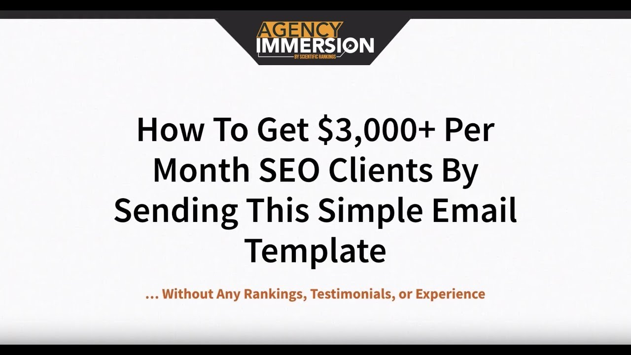 How To Get $3,000+ Per Month SEO Clients With Cold Email (Part 1)