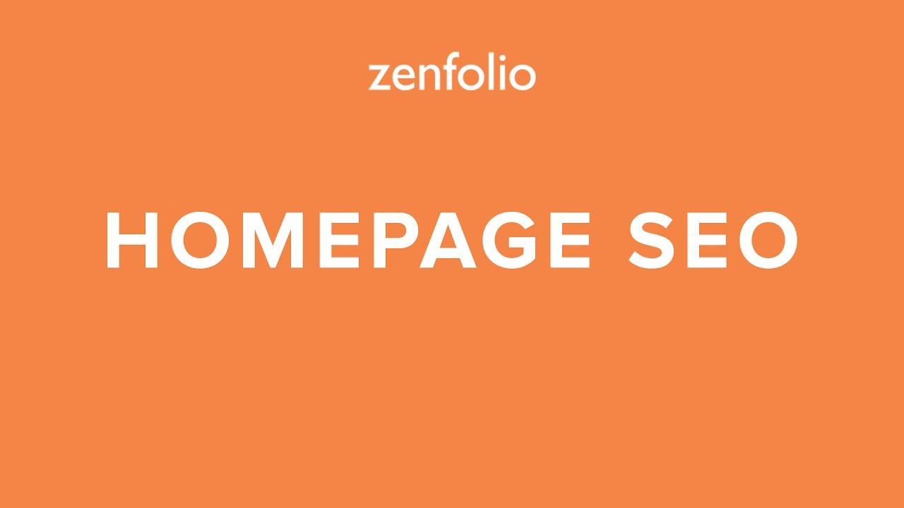 How to improve the SEO of your Zenfolio Homepage using  website title, description, H1 and H2 tags