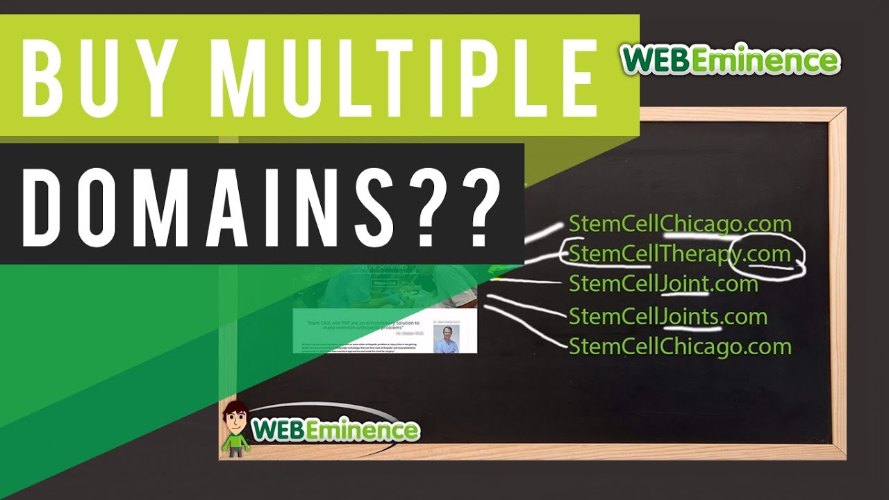 Multiple Domain Names - SEO Benefit? BEFORE you buy 10 Domains, WATCH this!
