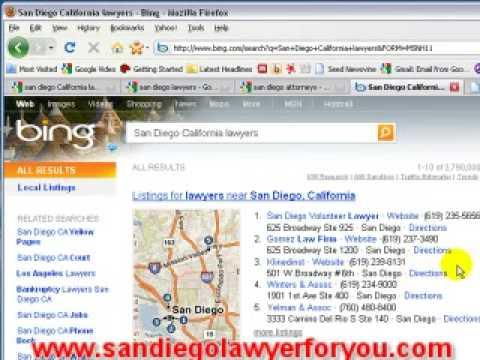 San Diego attorney - seo - search engine opimization tips