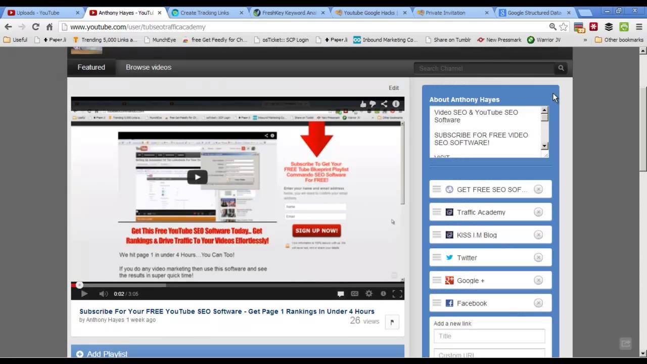 Video SEO - YouTube Search Engine Optimization Tips For 2013 Part 1 to 8