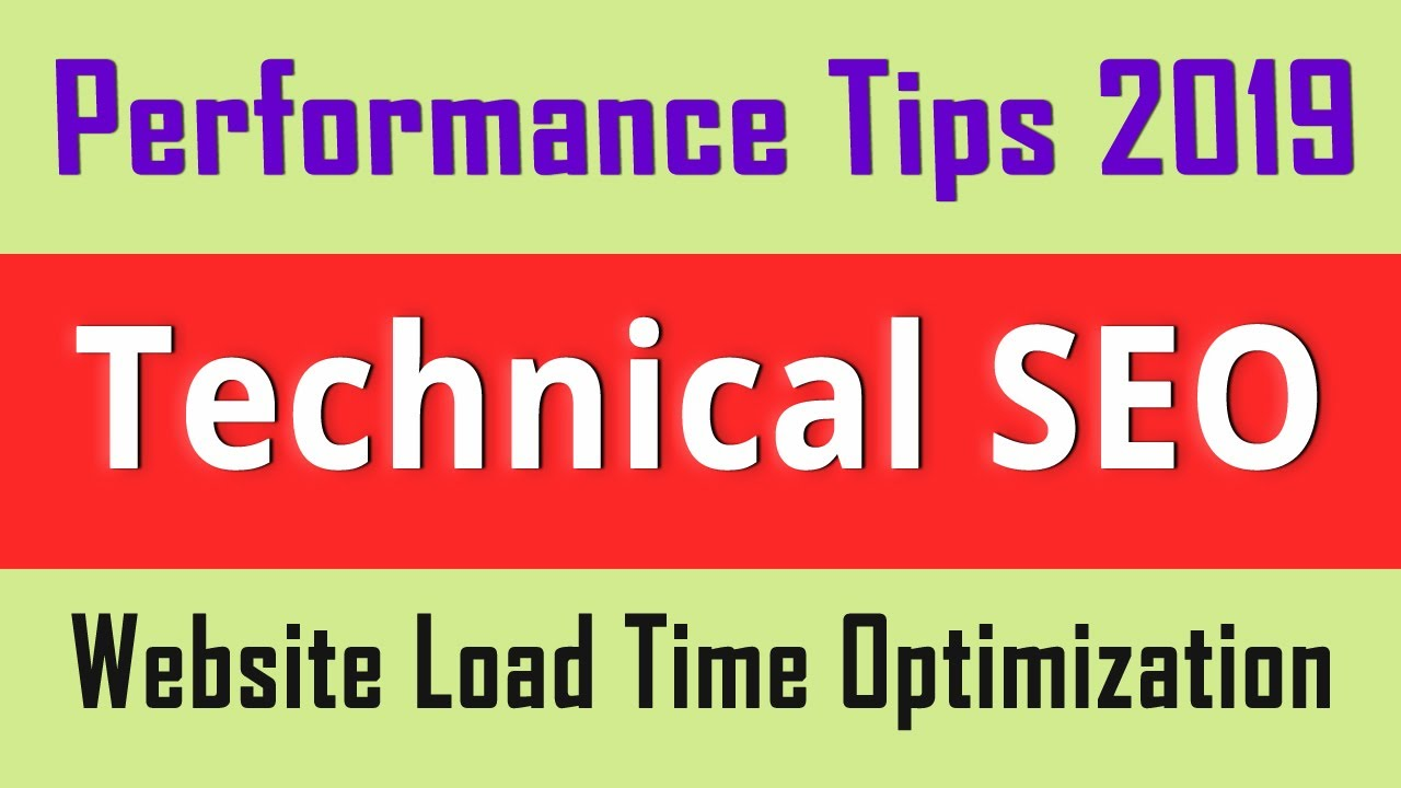 Website Load Time Optimization & Speed Performance Tips 2020