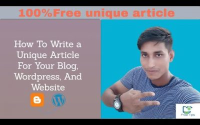 100% Unique Article Free For Your Blog And WordPress Website 2020