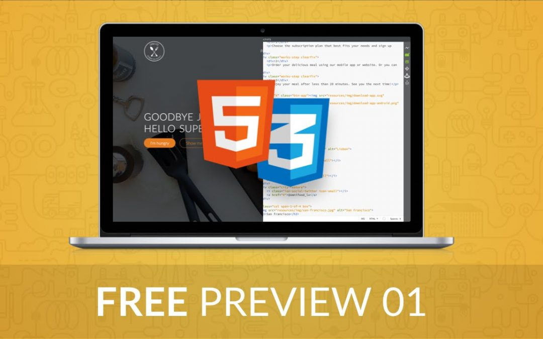 Web Design Tutorial for Beginners: Design and Develop Websites with HTML5 and CSS3 - FREE Preview 01