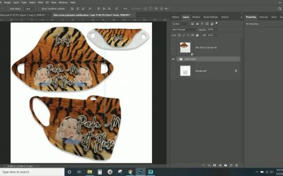 LIVE Making a Face Mask Cover Template Mockup Photoshop Tutorial